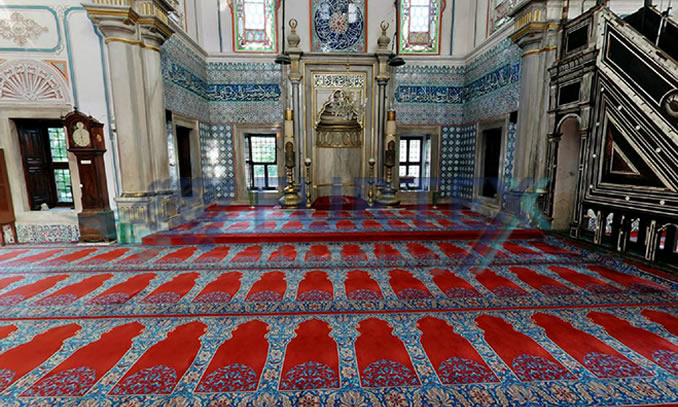 Belçika seccadeli cami halısı
